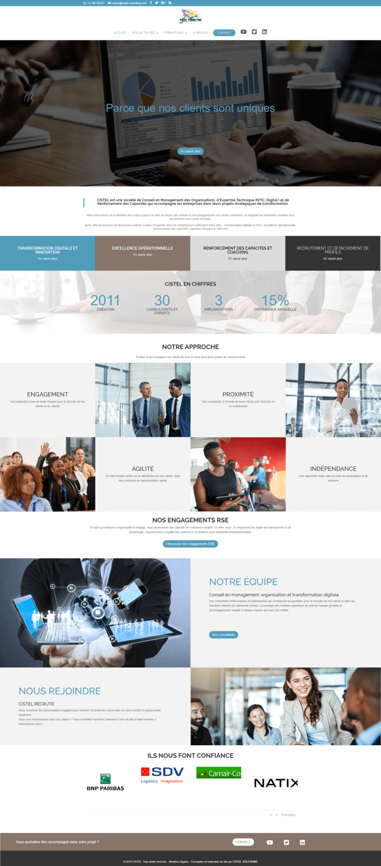 création site web Cistel Consulting