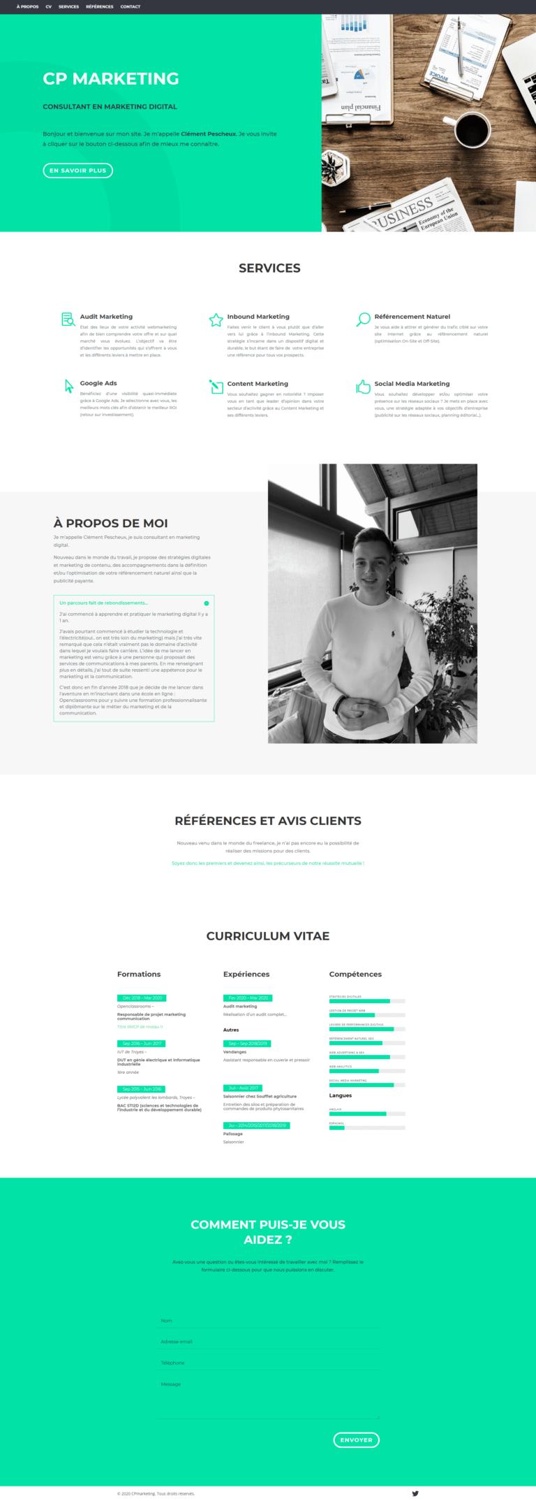création site web CP Marketing