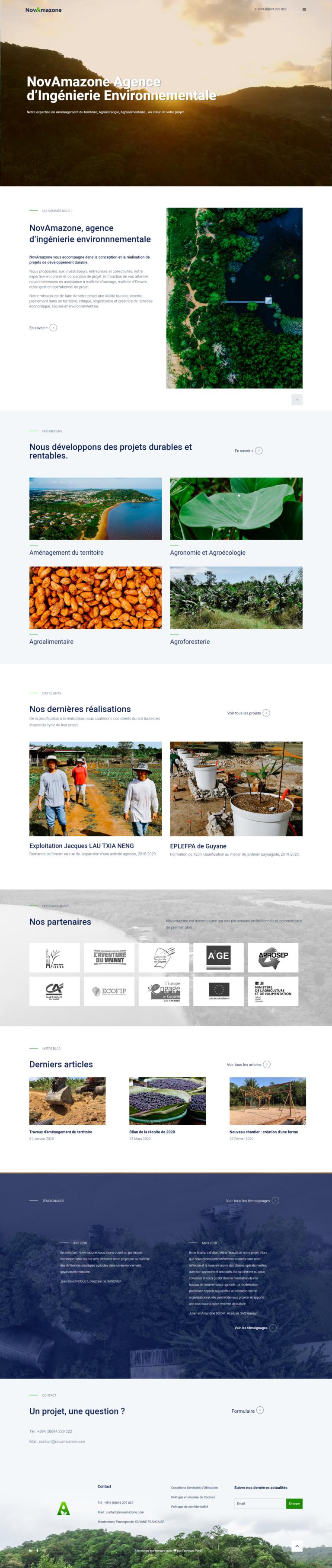 création site web Novamazone