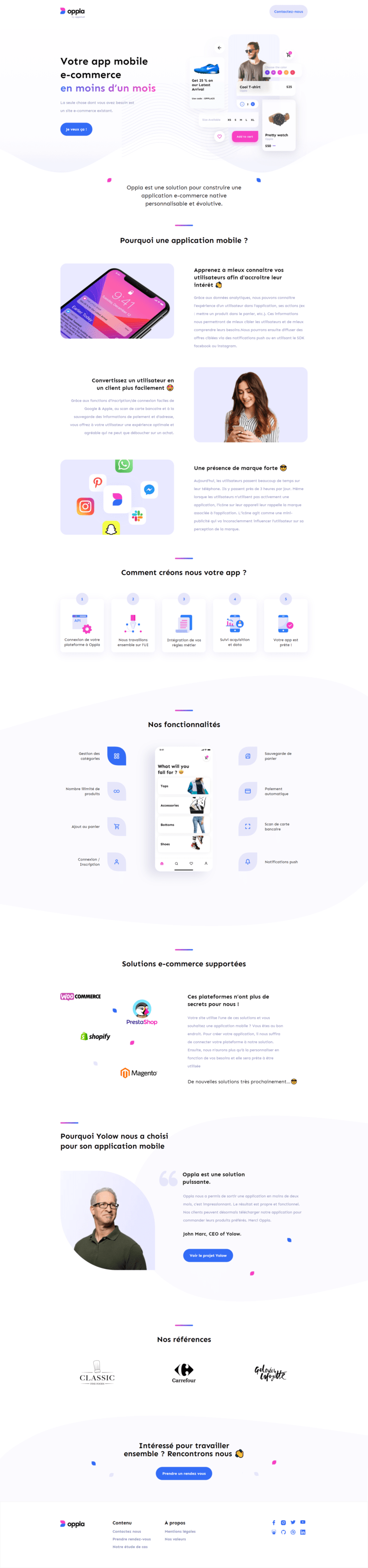 création site web Oppla